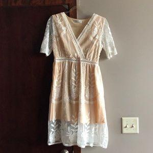 Adorable, feminine white lace dress